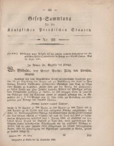 Gesetz-Sammlung für die Königlichen Preussischen Staaten, 25. September, 1860, nr. 29
