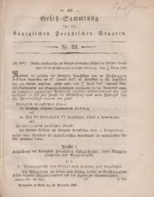 Gesetz-Sammlung für die Königlichen Preussischen Staaten, 26. November, 1860, nr. 33