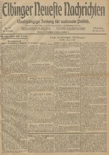 Elbinger Neueste Nachrichten, Nr. 19 Dienstag 20 Januar 1914 66. Jahrgang