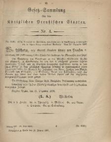 Gesetz-Sammlung für die Königlichen Preussischen Staaten, 19. Januar, 1867, nr. 4.