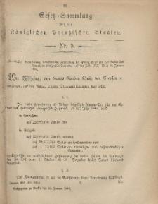 Gesetz-Sammlung für die Königlichen Preussischen Staaten, 19. Januar, 1867, nr. 5.