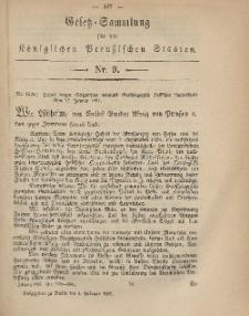 Gesetz-Sammlung für die Königlichen Preussischen Staaten, 4. Februar, 1867, nr. 9.