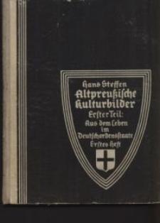 Aus dem Leben im Deutschordensstaate
