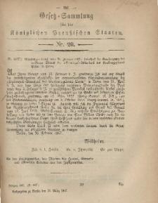 Gesetz-Sammlung für die Königlichen Preussischen Staaten, 13. März, 1867, nr. 20.