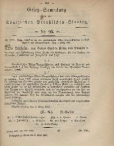 Gesetz-Sammlung für die Königlichen Preussischen Staaten, 3. April, 1867, nr. 25.