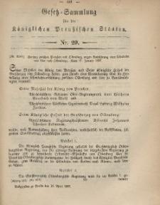 Gesetz-Sammlung für die Königlichen Preussischen Staaten, 16. April, 1867, nr. 29.