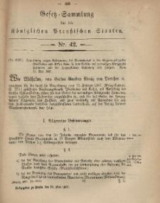 Gesetz-Sammlung für die Königlichen Preussischen Staaten, 23. Mai, 1867, nr.42.