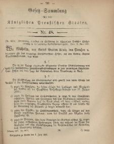 Gesetz-Sammlung für die Königlichen Preussischen Staaten, 6. Juni, 1867, nr.48.