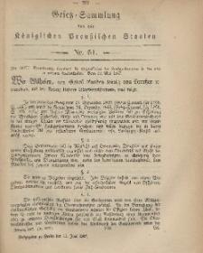 Gesetz-Sammlung für die Königlichen Preussischen Staaten, 11. Juni, 1867, nr.51.