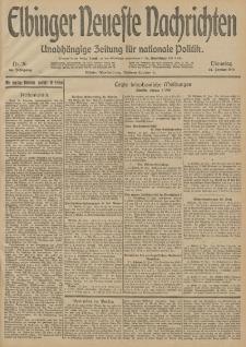 Elbinger Neueste Nachrichten, Nr. 26 Dienstag 27 Januar 1914 66. Jahrgang