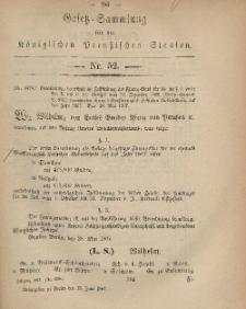 Gesetz-Sammlung für die Königlichen Preussischen Staaten, 13. Juni, 1867, nr.52.