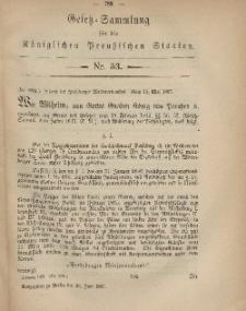 Gesetz-Sammlung für die Königlichen Preussischen Staaten, 15. Juni, 1867, nr.53.