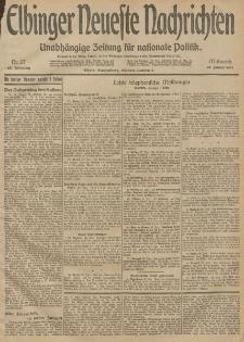 Elbinger Neueste Nachrichten, Nr. 27 Mittwoch 28 Januar 1914 66. Jahrgang