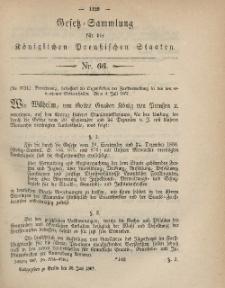 Gesetz-Sammlung für die Königlichen Preussischen Staaten, 20. Juli, 1867, nr.66.