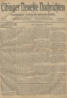 Elbinger Neueste Nachrichten, Nr. 28 Donnerstag 29 Januar 1914 66. Jahrgang