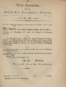 Gesetz-Sammlung für die Königlichen Preussischen Staaten, 17. August, 1867, nr.76.