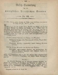 Gesetz-Sammlung für die Königlichen Preussischen Staaten, 31. August, 1867, nr.83.