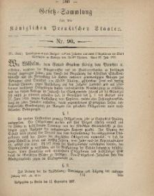 Gesetz-Sammlung für die Königlichen Preussischen Staaten, 13. September, 1867, nr.90.