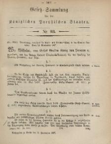 Gesetz-Sammlung für die Königlichen Preussischen Staaten, 19. September, 1867, nr.93.