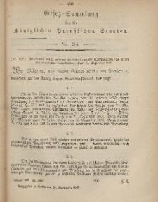 Gesetz-Sammlung für die Königlichen Preussischen Staaten, 20. September, 1867, nr.94.