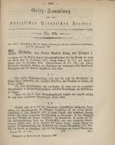 Gesetz-Sammlung für die Königlichen Preussischen Staaten, 22. September, 1867, nr.96.