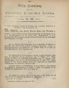 Gesetz-Sammlung für die Königlichen Preussischen Staaten, 25. September, 1867, nr.99.