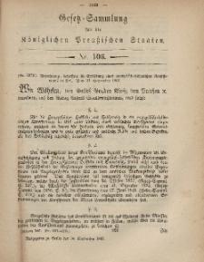 Gesetz-Sammlung für die Königlichen Preussischen Staaten, 30. September, 1867, nr.106.