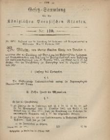 Gesetz-Sammlung für die Königlichen Preussischen Staaten, 10. Oktober, 1867, nr.110.