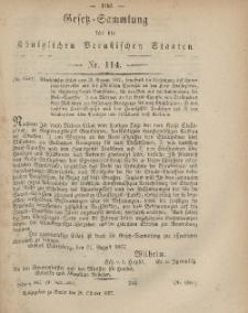 Gesetz-Sammlung für die Königlichen Preussischen Staaten, 25. Oktober, 1867, nr.114.