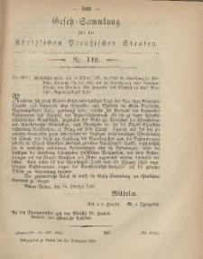 Gesetz-Sammlung für die Königlichen Preussischen Staaten, 29. November, 1867, nr.119.