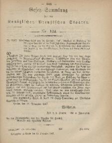 Gesetz-Sammlung für die Königlichen Preussischen Staaten, 18. Dezember, 1867, nr.124.