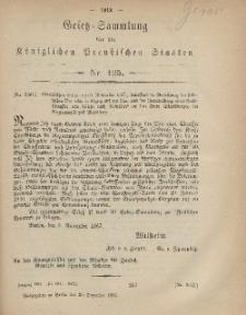 Gesetz-Sammlung für die Königlichen Preussischen Staaten, 20. Dezember, 1867, nr.125.