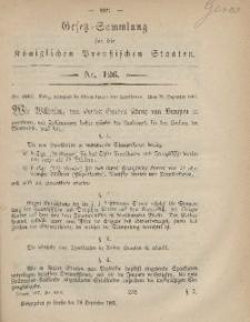 Gesetz-Sammlung für die Königlichen Preussischen Staaten, 24. Dezember, 1867, nr.126.