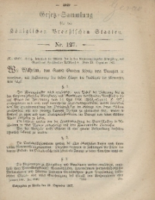 Gesetz-Sammlung für die Königlichen Preussischen Staaten, 29. Dezember, 1867, nr.127.