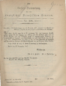 Gesetz-Sammlung für die Königlichen Preussischen Staaten, 31. Dezember, 1867, nr.128.