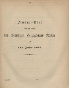 Gesetz-Sammlung für die Königlichen Preussischen Staaten (Finanz-Etat für das Gebiet des chemaligen Herzogthums Nassau auf das Jahr 1867)