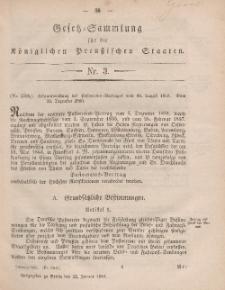 Gesetz-Sammlung für die Königlichen Preussischen Staaten, 22. Januar, 1861, nr. 3.