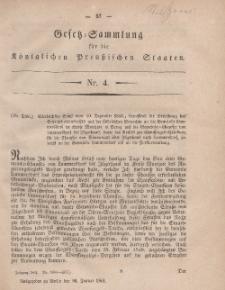 Gesetz-Sammlung für die Königlichen Preussischen Staaten, 30. Januar, 1861, nr. 4.