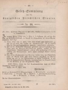 Gesetz-Sammlung für die Königlichen Preussischen Staaten, 3. Mai, 1861, nr. 15.