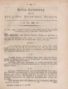 Gesetz-Sammlung für die Königlichen Preussischen Staaten, 15. Juli, 1861, nr. 26.