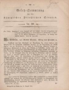 Gesetz-Sammlung für die Königlichen Preussischen Staaten, 16. August, 1861, nr. 30.