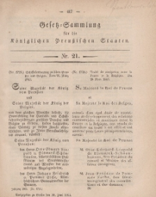 Gesetz-Sammlung für die Königlichen Preussischen Staaten, 30. Juni, 1863, nr. 21.