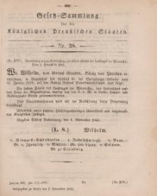 Gesetz-Sammlung für die Königlichen Preussischen Staaten, 3. November, 1863, nr. 38.