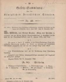 Gesetz-Sammlung für die Königlichen Preussischen Staaten, 24. November, 1863, nr. 40.