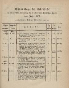 Gesetz-Sammlung für die Königlichen Preussischen Staaten (Chronologische Uebersicht), 1865