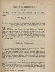 Gesetz-Sammlung für die Königlichen Preussischen Staaten, 4. Februar, 1865, nr. 3.