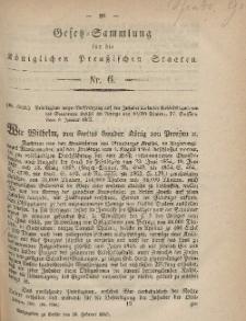 Gesetz-Sammlung für die Königlichen Preussischen Staaten, 28. Februar, 1865, nr. 6.