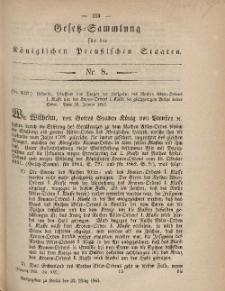 Gesetz-Sammlung für die Königlichen Preussischen Staaten, 22. März, 1865, nr. 8.