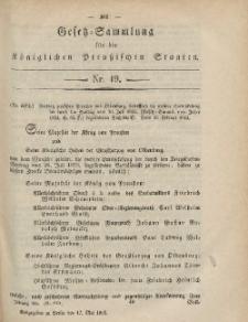 Gesetz-Sammlung für die Königlichen Preussischen Staaten, 17. Mai, 1865, nr. 19.