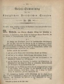 Gesetz-Sammlung für die Königlichen Preussischen Staaten, 26. Mai, 1865, nr. 20.